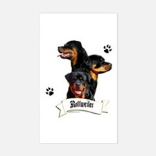 Rottie 4 Rectangle Decal