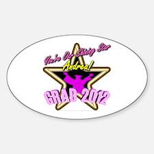 Grad Girls Andrea: 0003 Sticker (Oval)