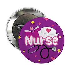 """Cute Nurse 2.25"""" Button"""