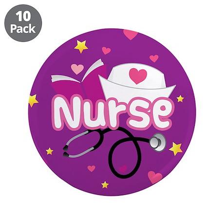 """Cute Nurse 3.5"""" Button (10 pack)"""