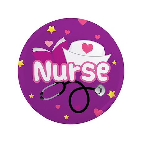 """Cute Nurse 3.5"""" Button (100 pack)"""