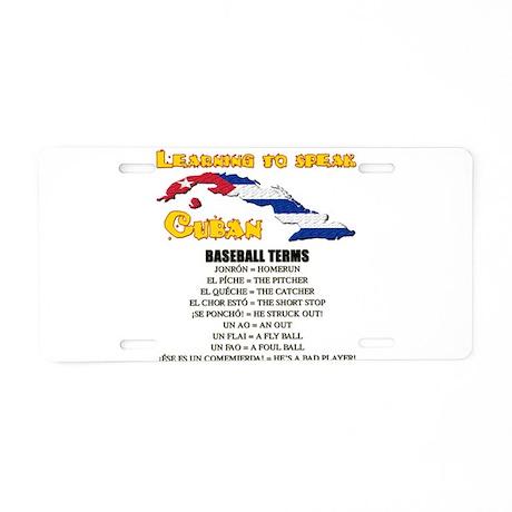 BASEBALL TERMS copy.png Aluminum License Plate