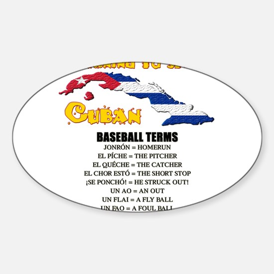 BASEBALL TERMS copy.png Sticker (Oval)