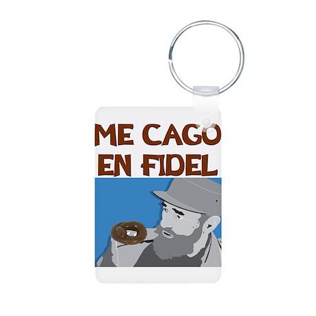 ME CAGO EN FIDEL.png Aluminum Photo Keychain
