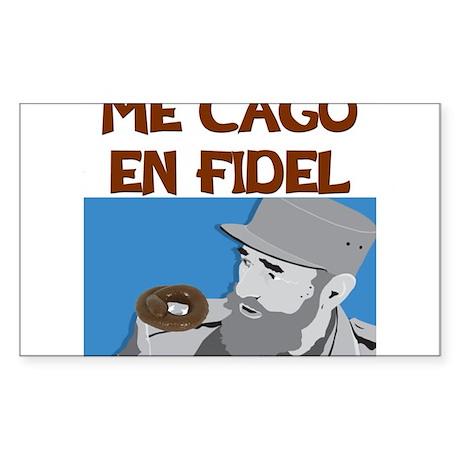 ME CAGO EN FIDEL.png Sticker (Rectangle)