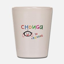 3-chonga in trainin... Shot Glass