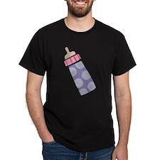 Baby Bottle Black T-Shirt