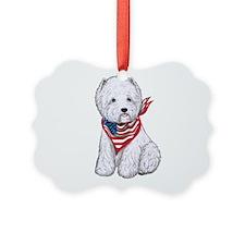 Stars & Stripes Westie Ornament