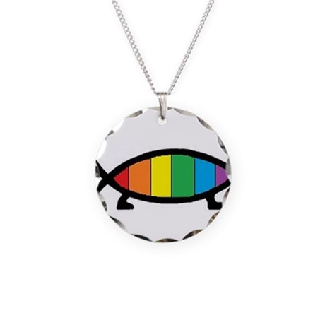 Gaytheist Necklace Circle Charm