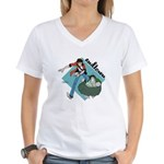 The Albert & Gustine Women's V-Neck T-Shirt