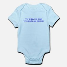 Cute Bodybuilding baby Infant Bodysuit