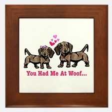 You had me at Woof Framed Tile