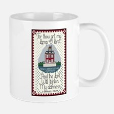 New London Ledge Lighthouse Mug with Bible Verse