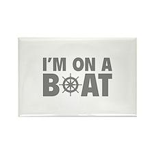 I'm On A Boat Rectangle Magnet