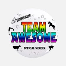"""Team Awesome 3.5"""" Button"""