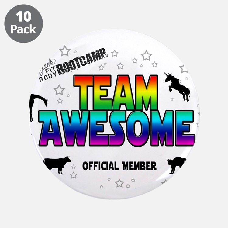 """Team Awesome 3.5"""" Button (10 pack)"""