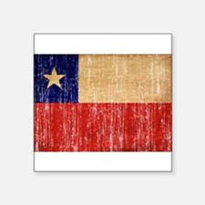 "Chile Flag Square Sticker 3"" x 3"""