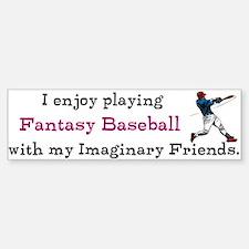 Fantasy Baseball Bumper Bumper Sticker