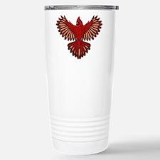 Beadwork Cardinal Travel Mug