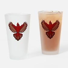 Beadwork Cardinal Drinking Glass