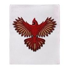 Beadwork Cardinal Throw Blanket