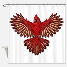 Beadwork Cardinal Shower Curtain