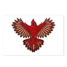 Beadwork Cardinal Postcards (Package of 8)