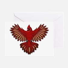 Beadwork Cardinal Greeting Card