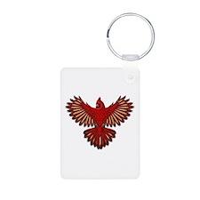 Beadwork Cardinal Keychains