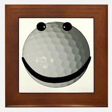 Golf ball smiley Framed Tile