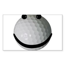 Golf ball smiley Decal