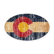 Colorado Flag Oval Car Magnet
