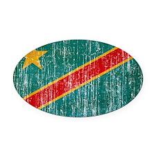 Congo Flag Oval Car Magnet