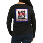 Sagra Women's Long Sleeve Dark T-Shirt