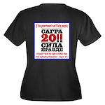 Sagra Women's Plus Size V-Neck Dark T-Shirt