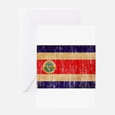 Costa Rica Flag Greeting Card