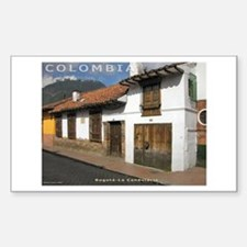 Casa en La Candelaria Rectangle Decal