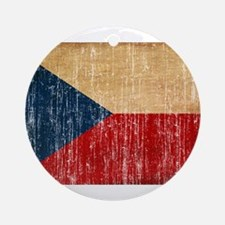 Czech Republic Flag Ornament (Round)