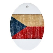 Czech Republic Flag Ornament (Oval)