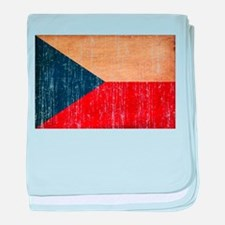 Czech Republic Flag baby blanket
