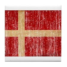 Denmark Flag Tile Coaster