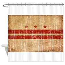 District of Columbia Flag Shower Curtain