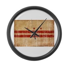 District of Columbia Flag Large Wall Clock