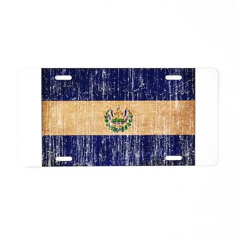 El Salvador Flag Aluminum License Plate