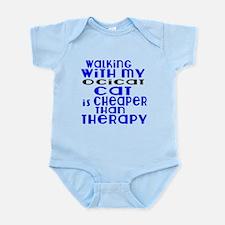 Walking With My Ocicat Infant Bodysuit