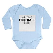 Grandpa's Football Buddy Baby Bodysuit Long Sleeve