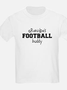 Grandpa's Football Buddy Kids Shirt