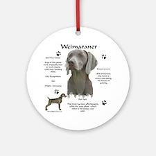 Weim 3 Ornament (Round)