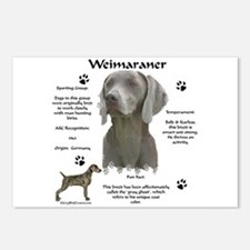 Weim 3 Postcards (Package of 8)