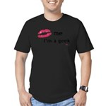 Kiss Me Im a Geek.png Men's Fitted T-Shirt (dark)